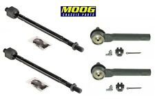 2 Front Inner and 2 Outer Tie Rod Ends KIT MOOG For Nissan 04-09
