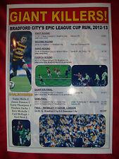 La ciudad de Bradford capital una Taza Run 2012/13-Souvenir de impresión