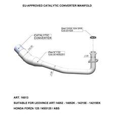 16013 - Collettore Scarico LeoVince Catalitico HONDA FORZA 125 (15-18)