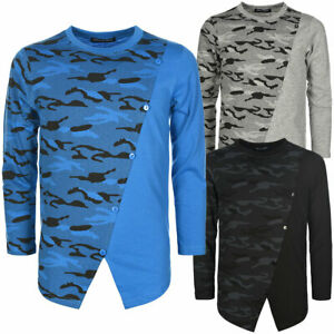 Jungen Langarmshirt Pullover Pulli Kinder Sweater Sweatshirt Camouflage 30128