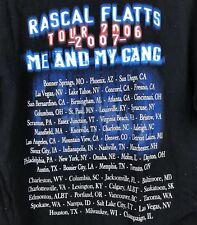 Rascal Flatts 2007 Me And My Gang Official Print Tour Shirt #T