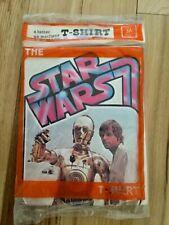 1977 Better T-Shirt Co Star Wars C-3Po Luke Skywalker Iron-On Vintage M Sealed