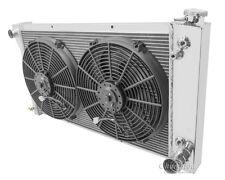 "67 68 69 70 71 72 Chevy C10 C20 K10 K20 K30 3 Core DR Radiator + 14"" Fans"