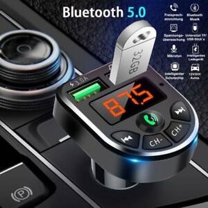 Bluetooth FM Transmitter Auto MP3 Player USB KFZ SD AUX Freisprechanlage (NEU)