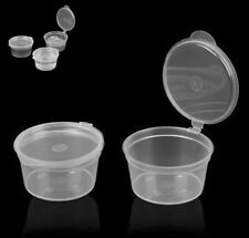 Small Plastic Sauce Containers Cups 1oz 35ml Storage Food Containers-100
