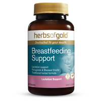 Herbs of Gold Breastfeeding Support 60 Tablets Lactation Support Fenugreek Vegan