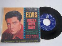 EP 4 TITRES VINYLE 45 T ELVIS PRESLEY , BOSSA NOVA BABY , G+ / G+ . RCA 86.352 .