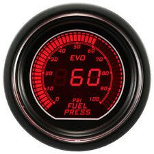 52mm Autogauge Digital EVO Gauge FUEL PRESSURE Meter RED/BLUE SMOKE LED PSI/BAR