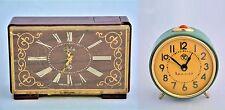 Vityaz Clock & Slava clock 2 clocks Plastic Metal Vintage Soviet USSR СССР VC2-3