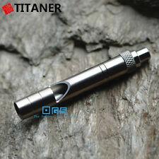 TITANER EDC Round Titanium Ti Survival Rescue Emergency SOS Whistle 120db