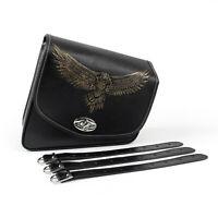 Leather Recht side Satteltasche Saddle Bag Leder Für Sportster XL 883 XL 1200 F