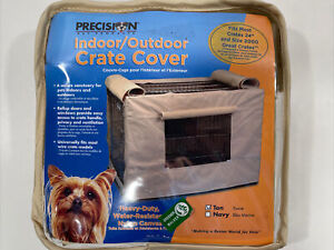 """Precision Pet Indoor Outdoor Crate Cover for Size 2000 - 24"""" Crates (Tan)"""