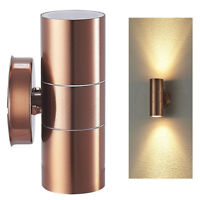 Stainless Steel Up Down GU10 IP44 Wall Light Double Outdoor Garden Patio UKES