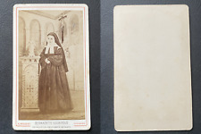 Bernadette Soubirous, Lourdes vintage cdv albumen print, Marie-Bernarde Soubirou