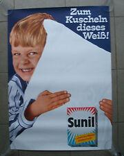 Plakat Sunil Waschpulver Waschmittel Wäsche 60er Jahre