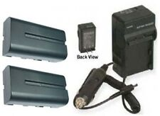 Two Batteries + Charger for Sony CCD-TRV215 CCD-TRV25 CCD-TRV26 CCD-TRV27