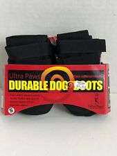 Ultra Paws Durable DOG BOOTS Red And Black All Weather Super Grip Sole SMALL