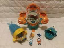 Lot of Disney Jr Octonaut Toys - Octopod, Gup A, & Gup S, with Barnacles +