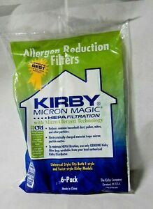 Kirby Vacuum Cleaner Micron Magic Allergen Reduction Filters – 6 Pack Cloth