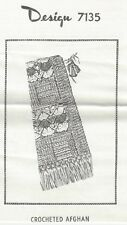 Crocheted Afghan Pattern (7135) Vintage New