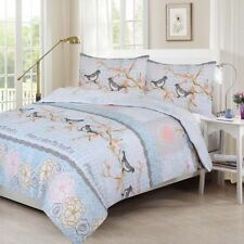 Sweet Bird Print Design Duvet Set Quilt Cover Bedding Single Double King Size
