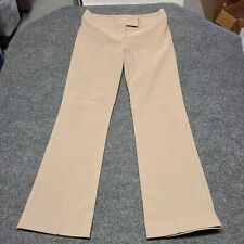 Vintage My Michelle Women Dress Pants Size 7 Tan Brown No Pockets Zip Stretch