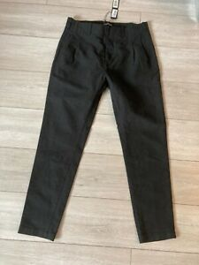 Men's Genuine Stone Island Trousers Chinos Black Size EU 48 UK 32W RRP €225
