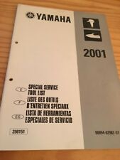 Yamaha moteur hors bord liste outillage tool list revue technique manuel 2001