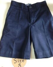 Polo Ralph Lauren Prospect Flat Front Shorts Boy Aviator Navy Blue Uniform SZ 8