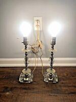 Beautiful Vintage 1940's -1950's Glass Lamps Set