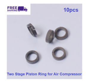 10pcs Two Stage Piston Ring Air Compressor PCP High Pressure Spare Parts Kit New