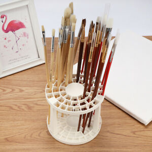 49 Holes Artists Art Paint Brush Holder Stand Holds Up Storage Collapsible Stand