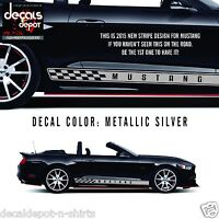 Ford MUSTANG Racing Rocker Panel Stripes Shelby 350 GT Fastback Convertible