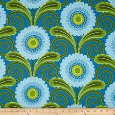 By 1/2 Yard Sweet Lady Jane Daisy Chain Teal ~ Free Spirit Jane Sassaman Fabric