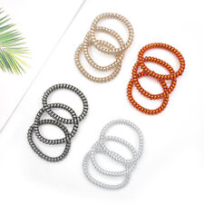 12PCS Rubber Telephone Wire Elastic Hair Ties Spiral Hair Head Bands