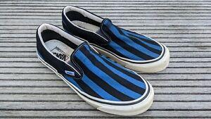 Vans Classic Slip-On 98 Anaheim Factory Herren Schwarz Blau Sneaker 44,5 10 11
