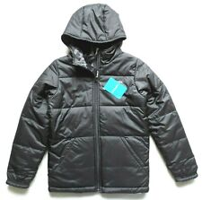 Columbia Boys Ice Chips Reversible Hooded Jacket, Black, Youth Size: L
