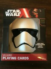 New! Star Wars TFA Villains Playing Cards in Storm Trooper Helmet Case