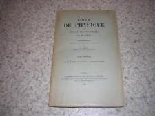 1888.instruments de mesure.hydrostatique / Jamin et Bouty.physique polytechnique