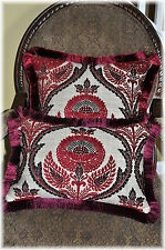 4 Decorative Accent pillows (two) 19x19  and Decorative Lumbur (two)19.5x13