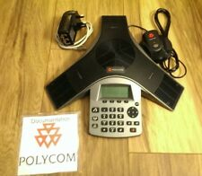 Polycom Soundstation Duo HD Analog & IP Conference Phone & mic & psu & cables