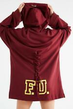 Puma Fenty By Rihanna Longline FU University Lace-Up Hoodie Sweatshirt Dress  S