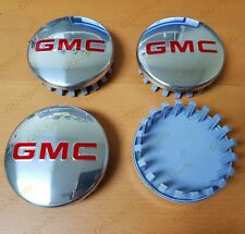 "GMC POLISHED Aluminum wheel Center Caps 22837060 83mm 3.25"" Sierra Yukon Denali"