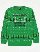 New Minecraft Christmas Jumper Age 11-12 Gamer Xmas Gift BNWT