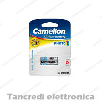 BATTERIA CAMELION 123 3V ULTRA LITHIUM DL123A / EL123A / CR123A / CR17345 LITIO