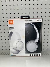 JBL T450BT Wireless On-Ear Headphones With Built-In Microphone Pure Bass White