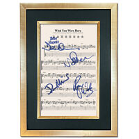 Pink Floyd Wish You were here Signed Music Sheet Album Autograph Print #804