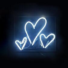 "14""x9""Hearts Neon Sign Light Handmade Real Glass Tube Visual Artwork Wall Decor"