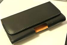 For Motorola Moto G5 & G5 Plus Black Leather Tradesman Belt Clip Pouch Case