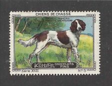 1931 Art Nestle Cailler Kohler Chocolate France Dog Trade Card French Spaniel